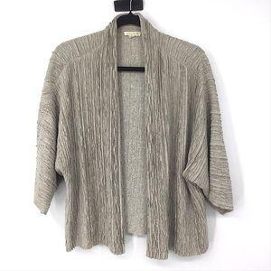 Eileen Fisher Silk Linen Cardigan Sweater Cream